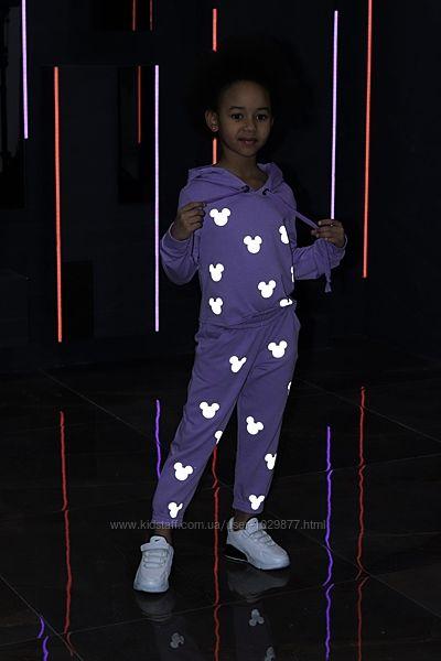 Стильный детский костюм светоотражающий Микки Маус от производителя 104-158