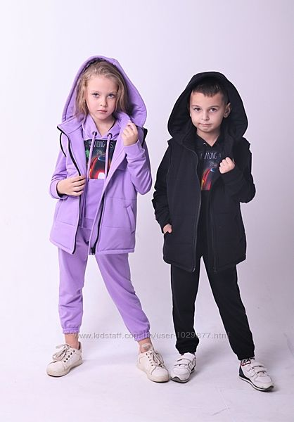 Детские стильные костюмы Among Us, а4 унисекс 104-158р от производителя