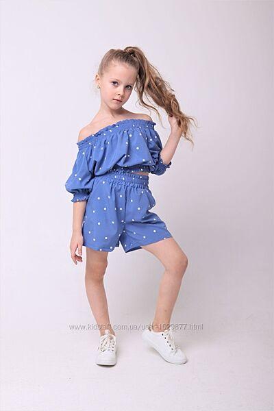 Летний стильный костюм для девочек 110-164р от производителя