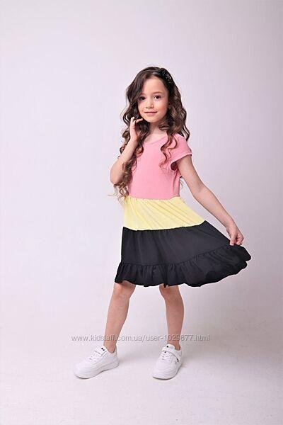 Стильное летнее платье для девочек 92-152р от производителя