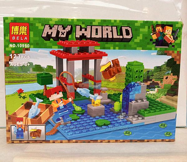 Конструктор Minecraft Майнкрафт Bela 10950, 123 дет.