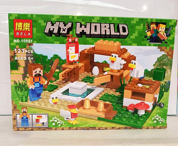 Конструктор Minecraft Майнкрафт Bela 10951, 123 дет.