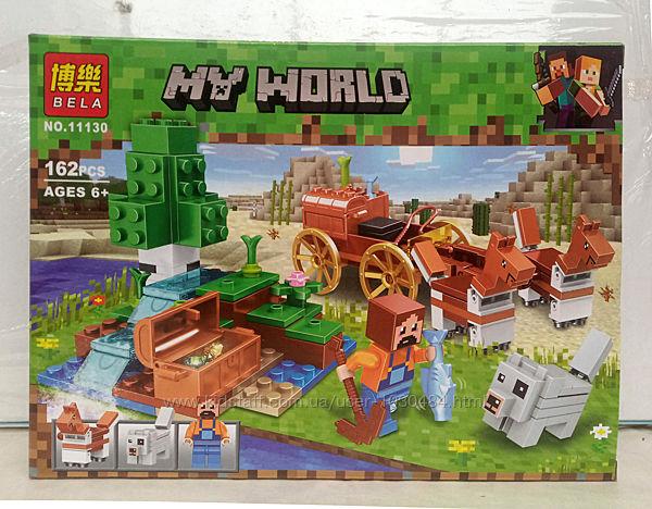 Конструктор 11130 Bela Minecraft Сокровищница в лесу у водопада 162 детали