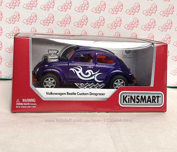 Машина металева KT5405 Kinsmart Volkswagen Beetle Custom Dragracer