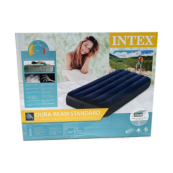 Intex Надувной матрас 64756 одноместный, 76х191х25 см, в коробке