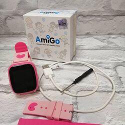 Смарт-часы детские влагозащищенные AmiGo GO001