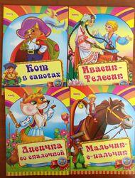 Развивающие книжки сказки на картоне рус. яз Весело учись изд МАНГОbook