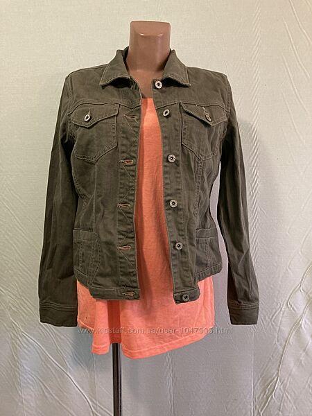 Куртка джинсовая жакет цвета хаки BBC , р. 46 - 50