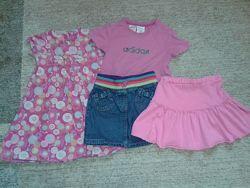 Пакет вещей на девочку р.104 платье юбка футболка