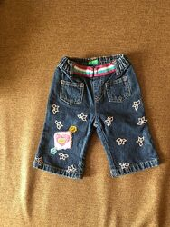 Брюки детские джинсовые.  Фирменные Benetton.
