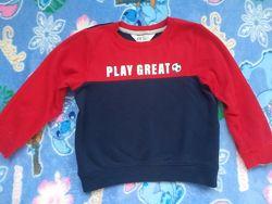 Свитшот с начесом для мальчика H&M на 4-6 лет