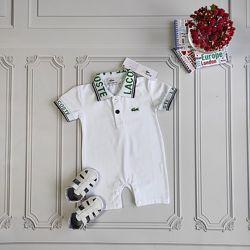 Белый песочник Lacoste для новорождённого