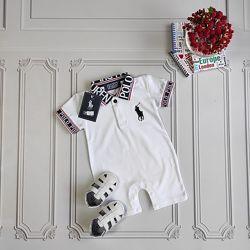 Белый песочник Polo для новорождённого