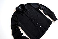 рубашка женская на пуговицах MISSGUIDED черная плотная блузка стрейчевая