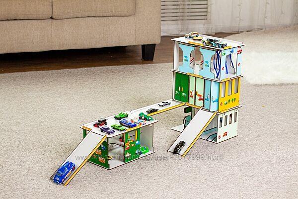 Игровой набор Детский автокомплекс , гараж, сто, заправка, мойка, паркинг,