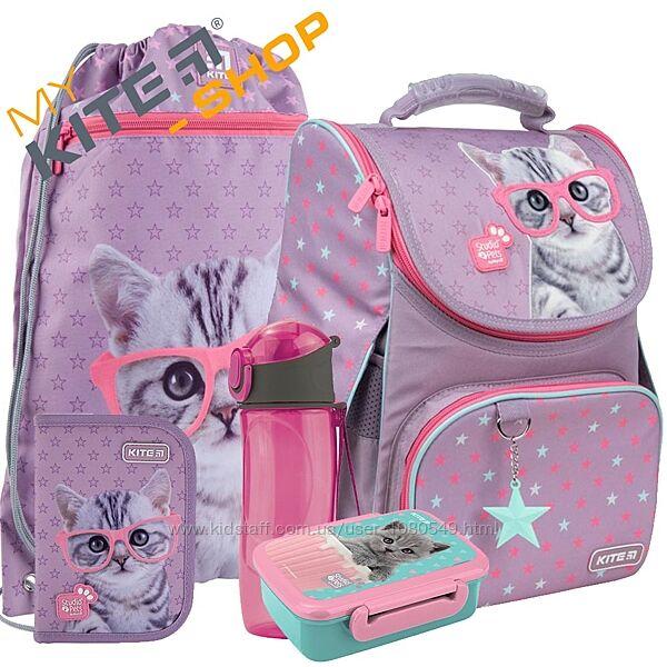 Школьный комплект 5в1 KITE Рюкзак сумка пенал для девочки