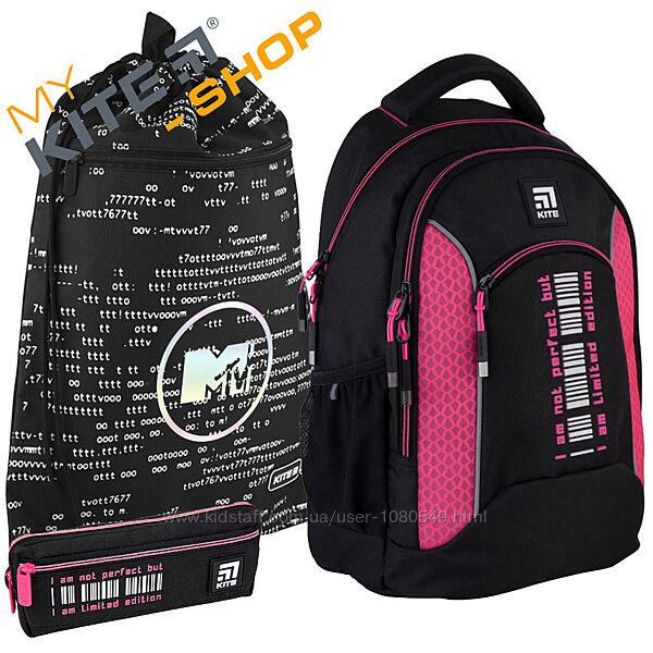 Школьный комплект 3в1  KITE Рюкзак сумка пенал для девочки Подросковый