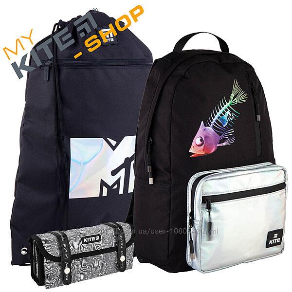 Школьный комплект 3в1 KITE Рюкзак сумка пенал для девочки Подростковый
