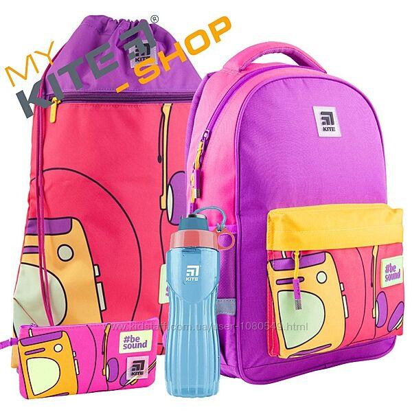 Школьный комплект 4в1 KITE Рюкзак сумка пенал для девочки Подростковый