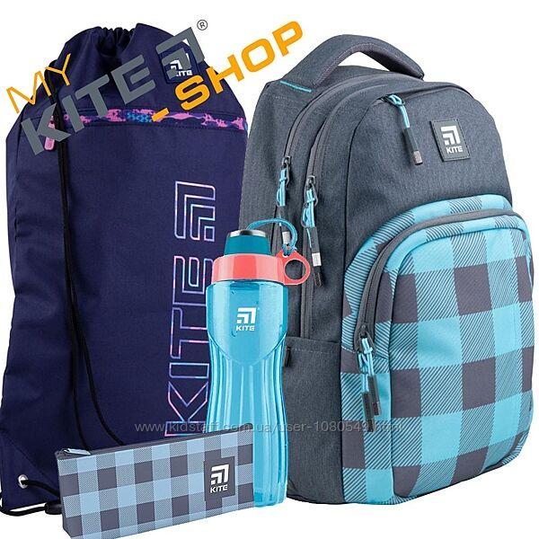 Школьный комплект 4в1 KITE Рюкзак сумка пенал для девочек Подростковый