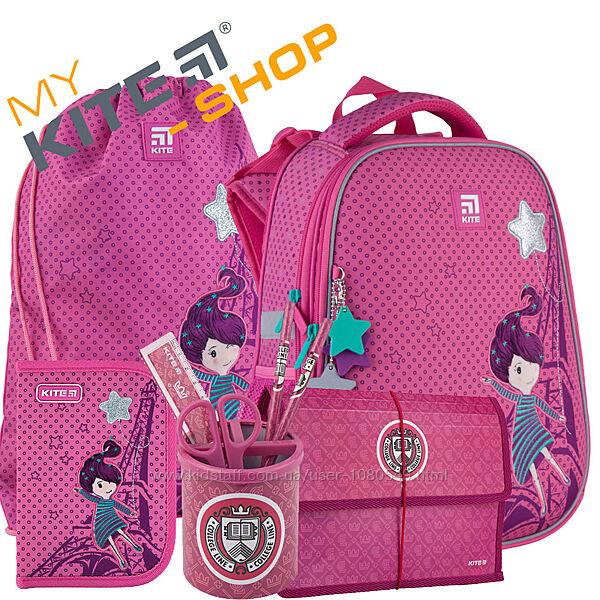 Школьный комплект 3в1  КАЙТ KITE Рюкзак сумка пенал для девочки и Подарок