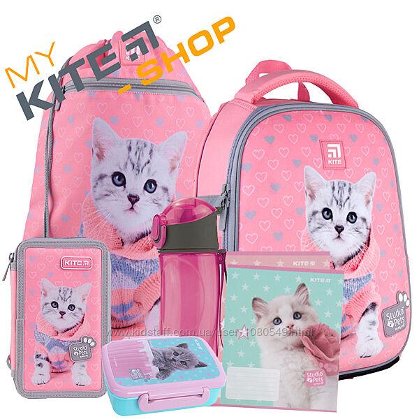 Школьный комплект 5в1  КАЙТ KITE Рюкзак сумка пенал для девочки и 10 тетрад