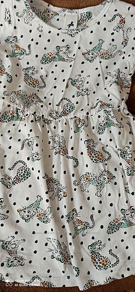 Платье с леопардами