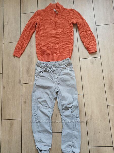 Кофта и джинсы фирменные на мальчика на 5-7 лет