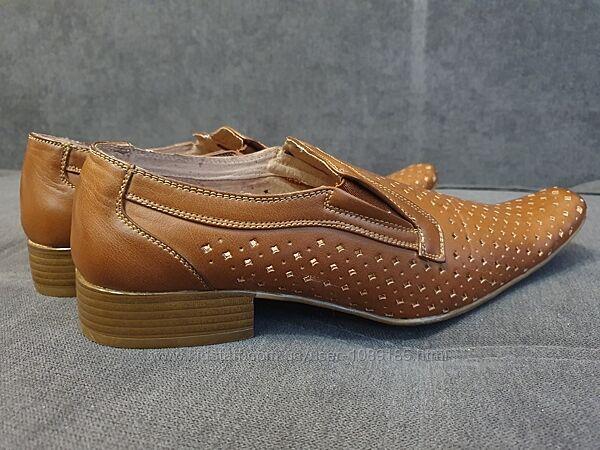 новые мужские летние туфли в дырочку  р-р 44 стелька 28 см