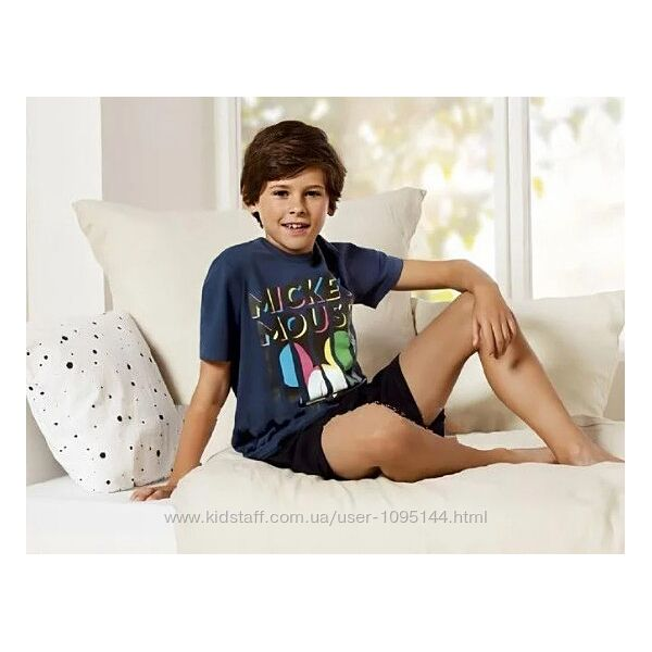 Літня піжамка, костюмчик Mickey Mouse розмір 122-128