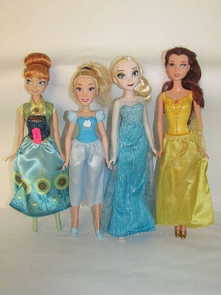 4 куклы одним лотом принцессы Анна Эльза Бель Золушка
