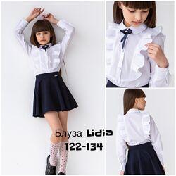 Школьная нарядная Блузка белая Brilliant Размеры 116-158 Хлопок