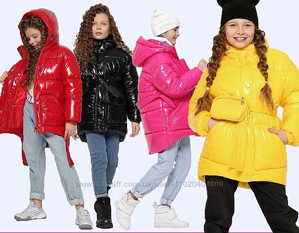 Детская зимняя куртка для девочки 8324 тм X-Woyz с сумкой Размеры 30 - 44