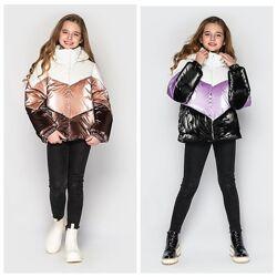 Модная куртка для девочек Мирта сезон- Еврозима размеры 128-158 тм Cvetkov