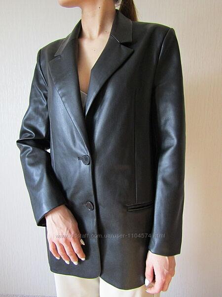 Блейзер пиджак жакет кожа  Zara  размкр  М свежая коллекция