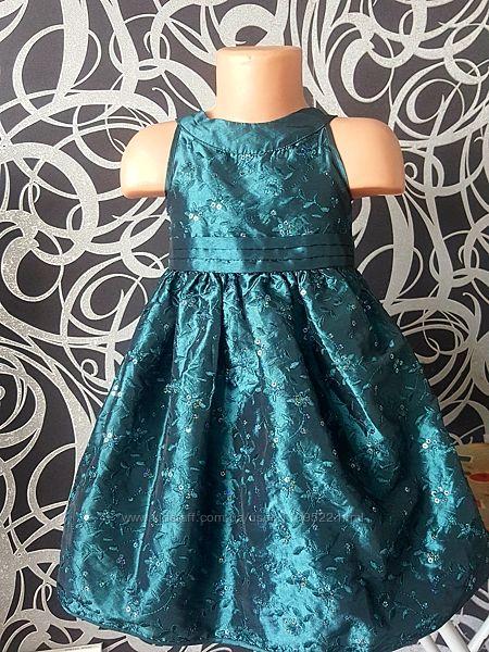 Нарядное платье пайетки, цветы, вышивка, 3-4