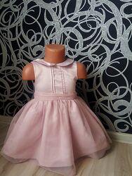 Нарядное пудровое платье  Next 1.6-3года