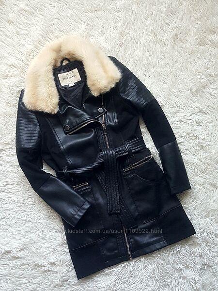 Куртка косуха, пальто кожа замш,7-9л