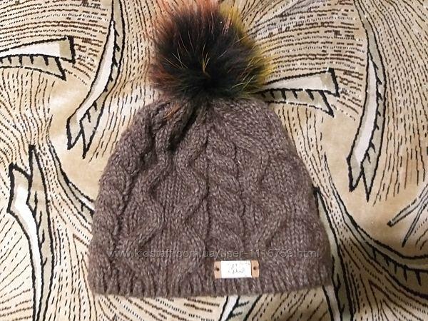 Зимняя шапка на девочку, мех натуральный
