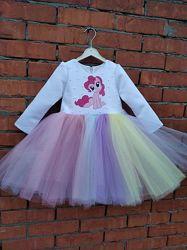 Пинки Пай, платье, новое для девочек , нарядное