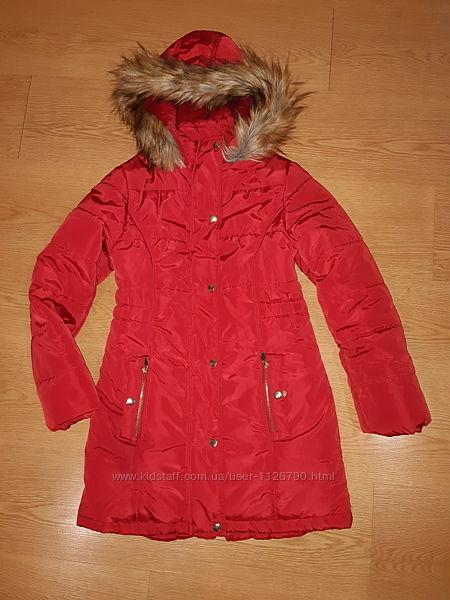 Зимнее красное пальто TU