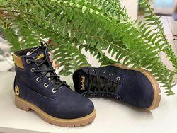Зимние ботинки Timberland реплика, замша, р.33