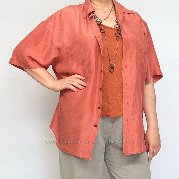 Шелковая рубашка, Luo moda, натуральный шелк