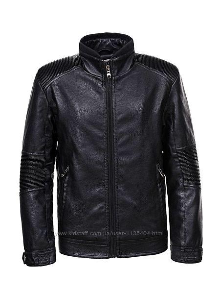 Куртка деми кожзам на меху для мальчиков 140 Венгрия
