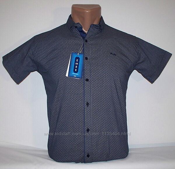 Рубашка шведка приталенная для мальчиков 140,146,152,158 Турция