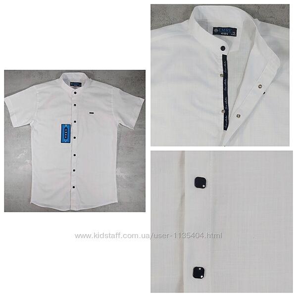 Рубашка шведка приталенная для мальчиков 134-158/164 Турция 2 вида