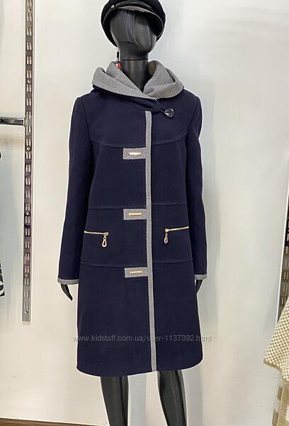 Шикарное темно-синее пальто 48-56