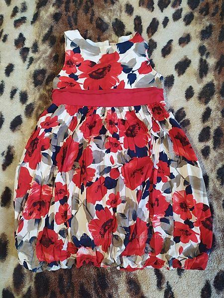 Нарядное хлопковое платье Mothercare р. 110-122 на 4-6 лет