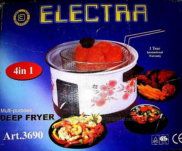 Фритюрница электрическая на 5 литров, эмалированная новая. хит продаж