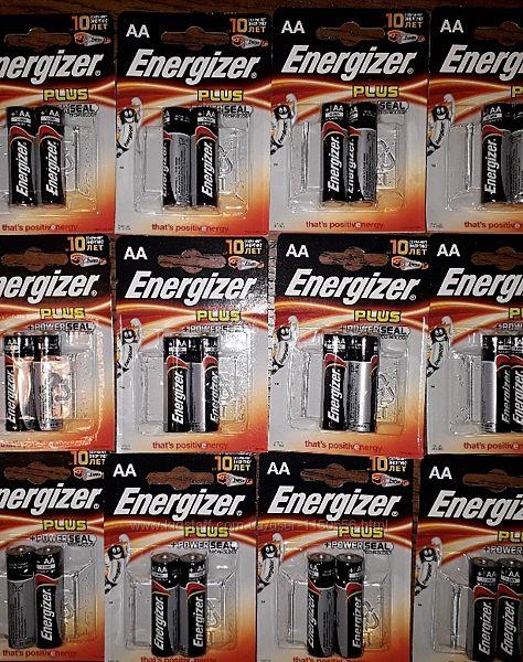 Батарейки пальчиковые АА Energizer Plus power seal technology зарядка.